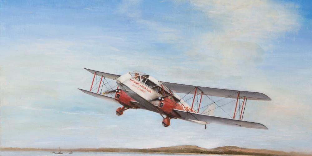 Aviatin Festival 2016 First Scottish Air Ambulance flight 14 May 1933 to and  from Loch indaal  Islay IslayMG_1891