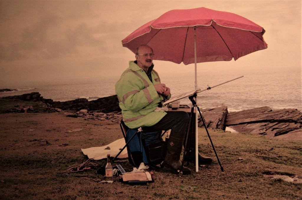 Ian and umbrella