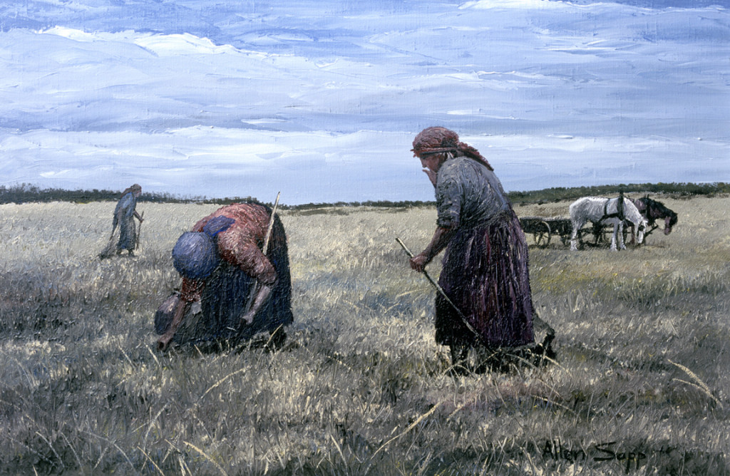 Picking Roots, 1975, by Allen Sapp – Collection of the Allen Sapp Gallery – The Gonor Collection