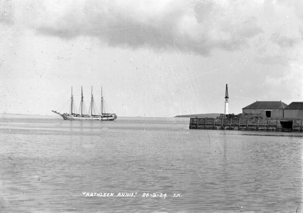 The Kathleen Annie in Kirkwall Bay on September 26, 1924. (Pic: Tom Kent, courtesy of Orkney Library and Archive.)