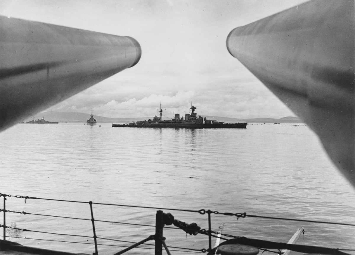 HMS Hood in Scapa Flow